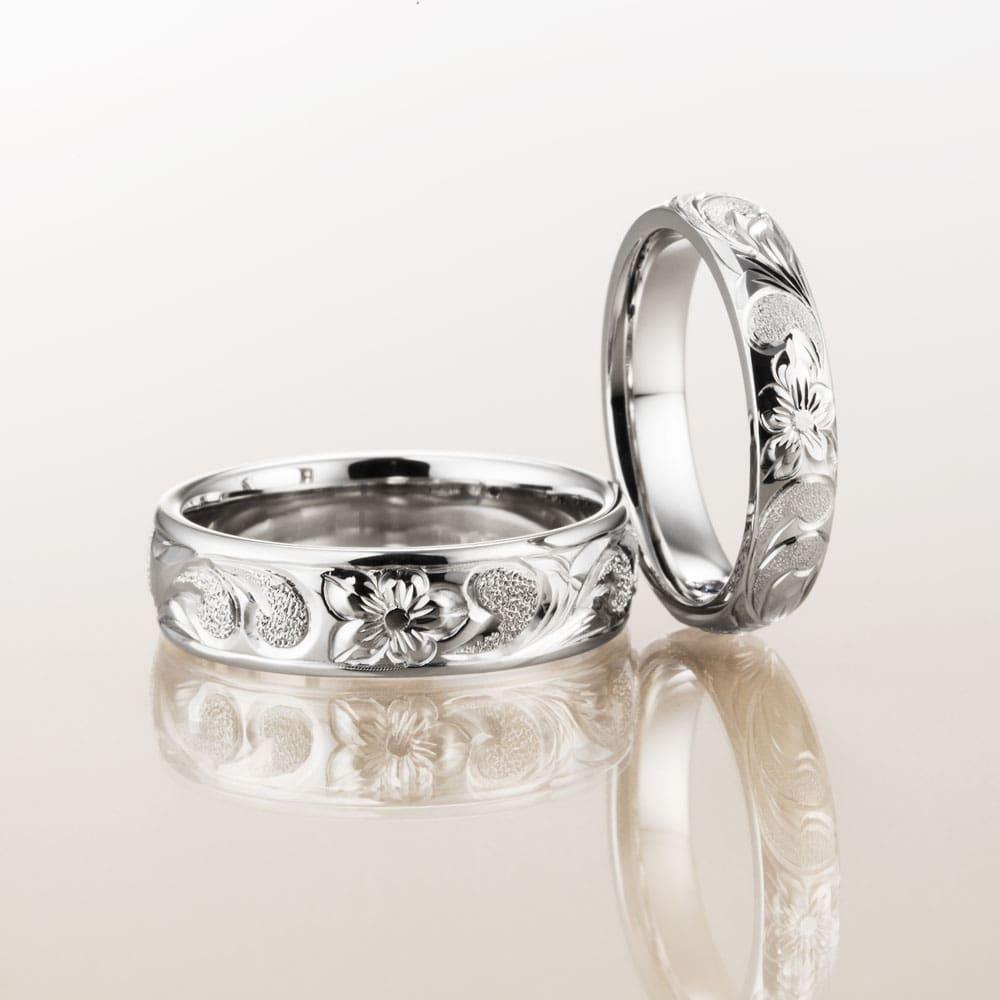 マカナ結婚指輪のプラチナ900バレルタイプ6mm幅と4mm幅です。